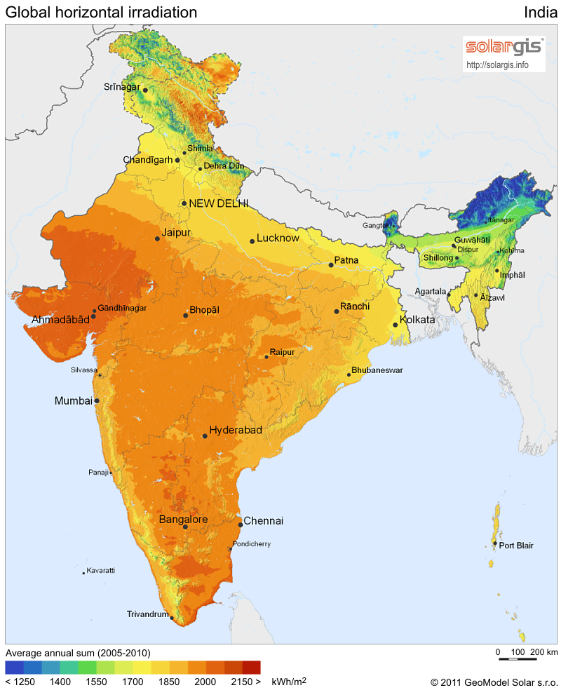 solar resource database and PV assessment tool for India ...